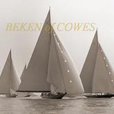 Shamrock leading 1935 © Beken of Cowes