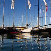 The J's moored up before racing © Ian Roman