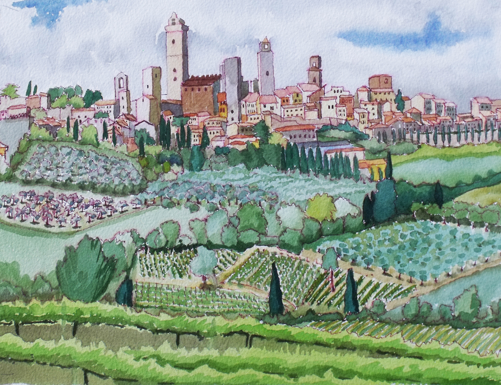 San Gimignano from the South