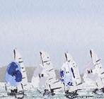 X boats in the sun, Cowes Week