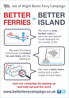 Better Ferry Campaign poster