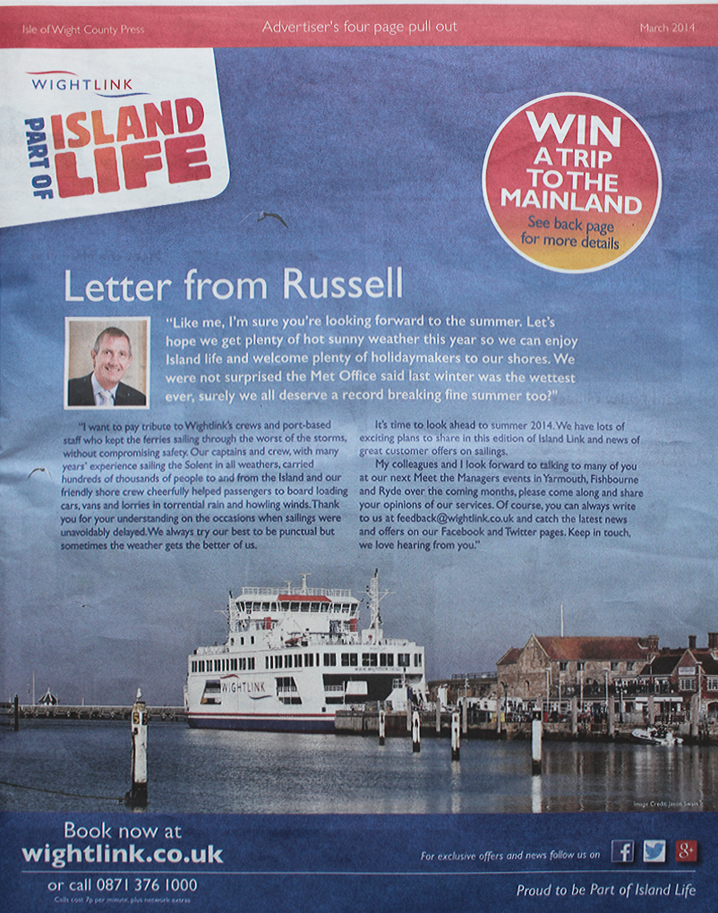 Letter from Russell Kew
