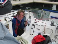 Lizzy in boat