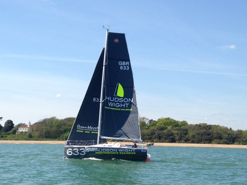 Hudson Wight 633 starting the UK Solent 6.50 Race to La Trinité