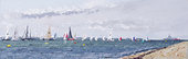 The Deauville race starts to the east off Cowes, towards the George H.W. Bush