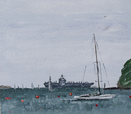 Darius off Cowes and the George H.W. Bush,