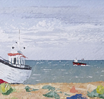 Two boats on the beach, Dungeness