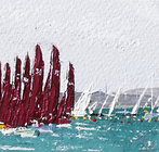 Redwing 30 leads a running start to the east, Cowes Week