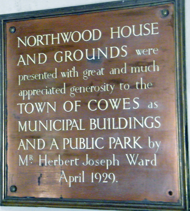 Presentation plaque in rotunda