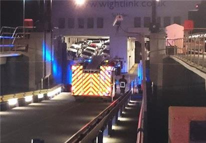 Car deck on ferry collapses