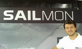 Kalle Coster on the Sailmon Booth at Annapolis 2014