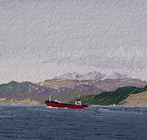 The Red Baroness heading to Ardrishaig,