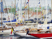 British Classics in the marina, Cowes