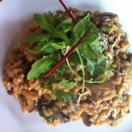 Black garlic risotto
