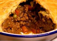 Garlic and curry pie