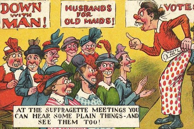 Anti-Suffragette poster