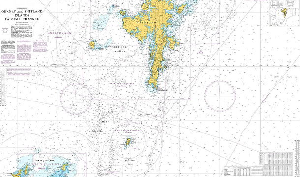 Chart 1119 - Orkney and Shetland Islands, Fair Isle Channel ...