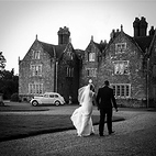Couple approaching Barton Manor