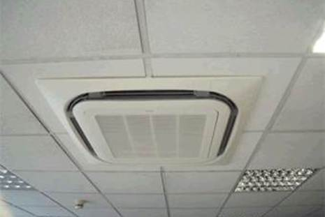 Air conditioning air quality monitoring