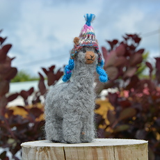 Grey Felted Alpaca