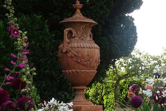 Urn by the secret garden
