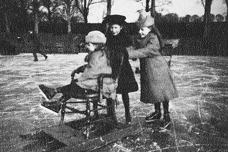 Ice Skating in Barton Water Garden, 1891