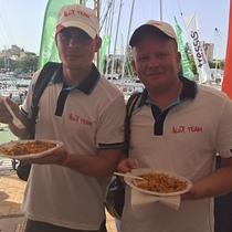 Alex Team enjoying post race paella