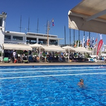 poolside at the yacht club
