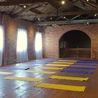 Yoga in Albert's barn at Barton