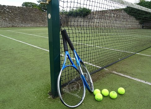 Barton tennis in walled garden