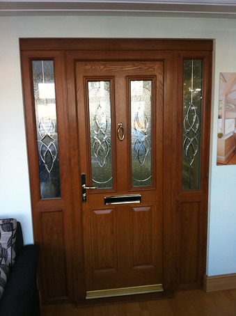Double conservatory with central french doors white upvc - Upvc double front exterior doors ...