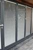 Grey bi-folding doors