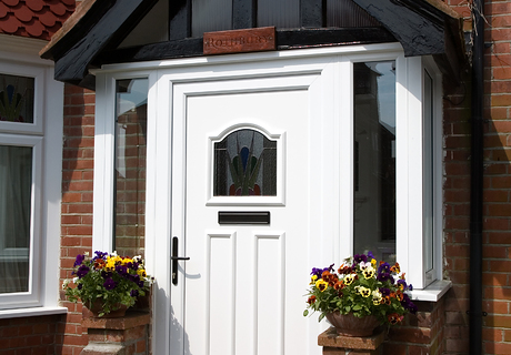 White Pvc-u porch.