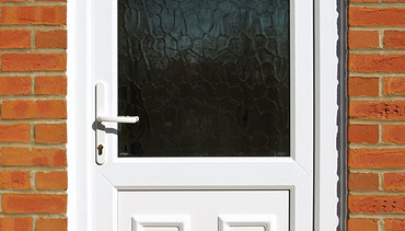 white panelled front door