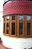 Bay window - Oak effect Upvc