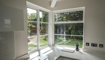 Contemporary corner windows