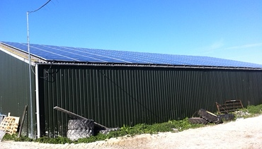 Solar on a farm building