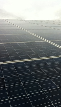 Large scale solar pv project