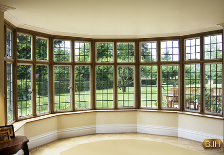 Bespoke Oak framed Steel Bay Window