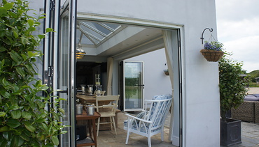 Bi-folding Doors - three panel