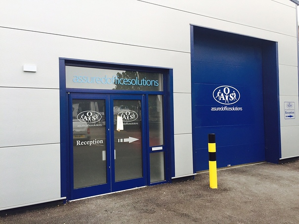 Aluminium Shop Front to a factory Premise.