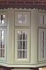 Green Upvc bay window