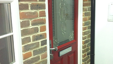 Vibrant Red Composite Front Door