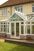 White Leaded Pvc-u double glazed windows and conservatory