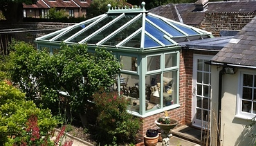 Hardwood Conservatory in Sage Green