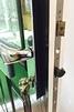 Composite door mechanism and chrome door furniture