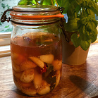 Pickled garlic cloves