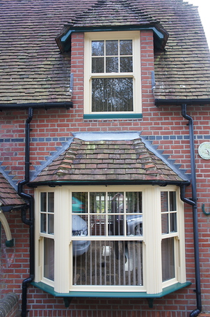 Cream sliding sash windows