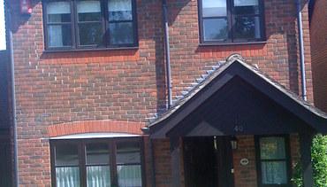 Dark wood windows