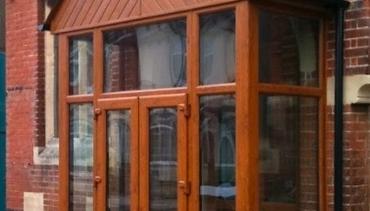 Pvc-u Oak effect Porch